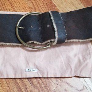 Authentic Mui Mui  by Prada Shearling  Belt